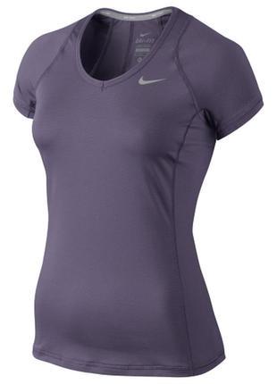 Nike футболка для тенниса спортивная майка батал компрессионная dry fit