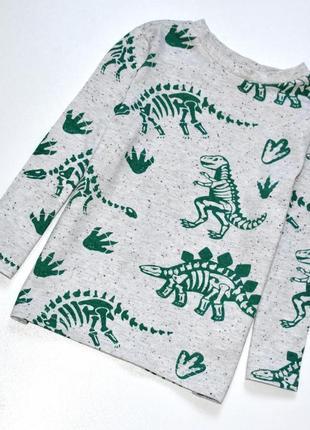 F&f классный реглан с рисунком динозавров. 3-4 года