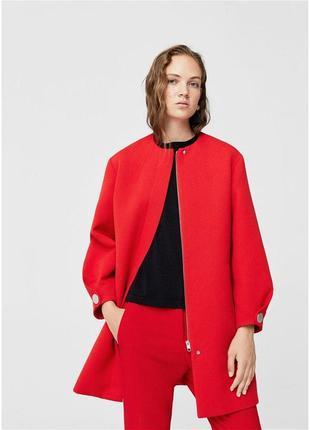 Красное пальто mango zara mango