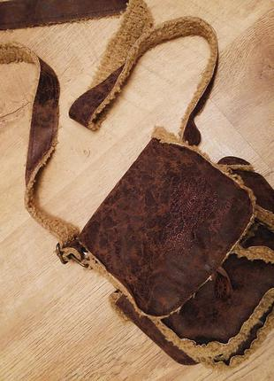 Зимняя кросс-боди сумка