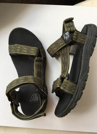 Мужские сандалии босоножки на липучках  jack wolfskin сандалі