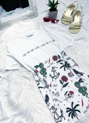 Белая футболка с принтом от berserka😍