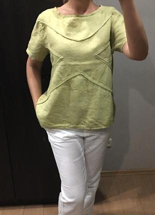 Блуза оверсайс из льна италия