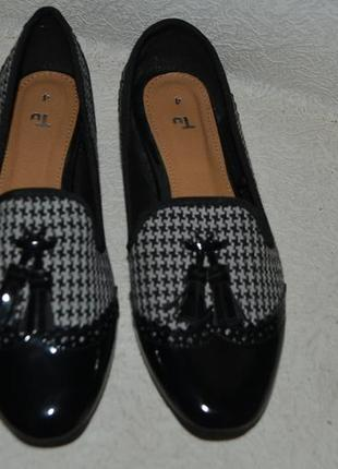 Новые туфли лоферы tu 23.7 см 37 размер англия