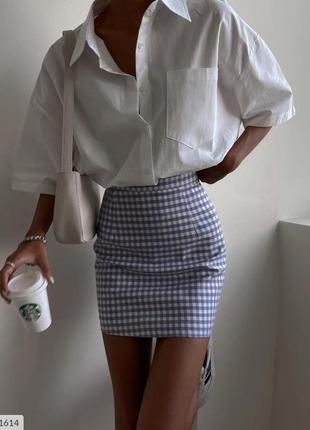 Костюм юбка+рубашка лето/осень.