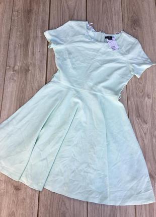 Стильное актуальное платье h&m zara asos тренд мятное короткое мини миди