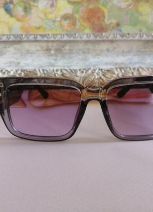 Эксклюзивные брендовые черно серые солнцезащитные очки 20213 фото