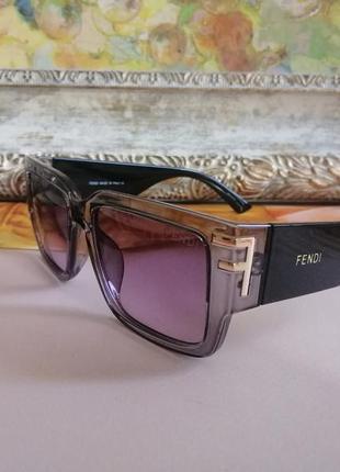 Эксклюзивные брендовые черно серые солнцезащитные очки 2021