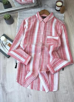 Бавовняна сорочка в смужку із зав'язкою від new look