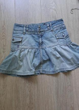 💚💖💜 коротенькая джинсовая юбочка для молодёжи