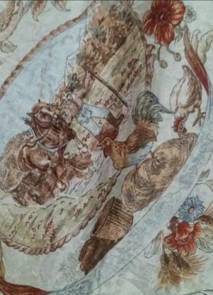 Винтаж!!! очаровательный , шикарный  шёлковый платок