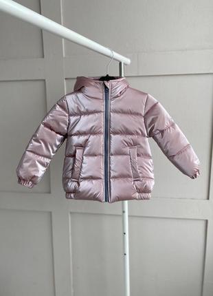 Пудровая бархатная деми куртка для девочек