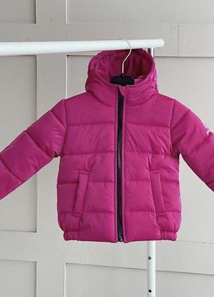 Яркая малиновая бархатная деми куртка