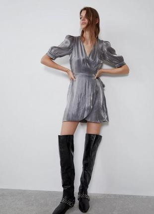 Платье на запах, zara оригинал.