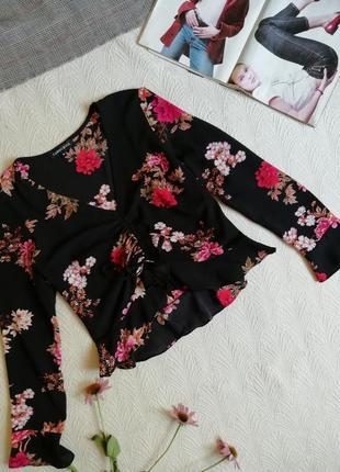 Топ блуза в цветочный принт