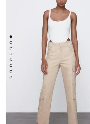 Новые женские брюки-карго зара новая коллекция размер xxl, беж