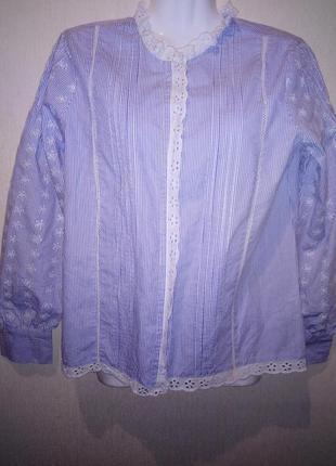 🌺 🌿 🍃 блуза натуральная ткань р.46-48 🍃 🌺 🌿