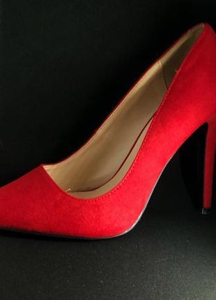 Туфлі натуральна замш