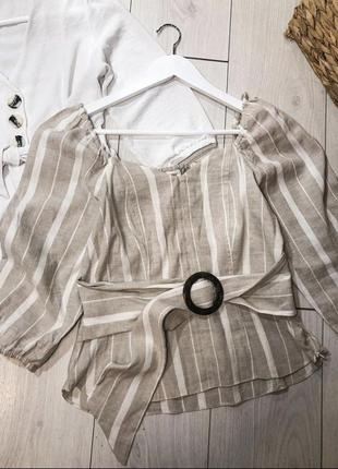 Бежева блуза