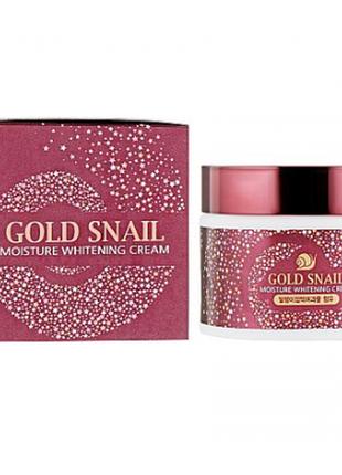 Крем для лица enough gold snail moisture whitening cream 50 мл