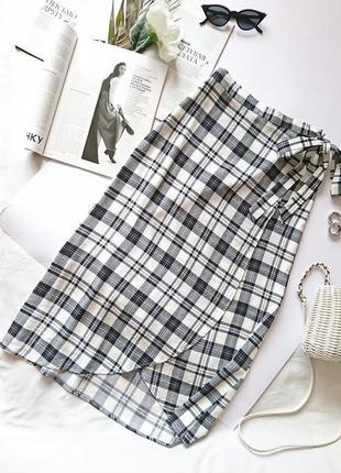 Актуальна віскозна спідниця/юбка в клітинку на запах 😍 від new look, на р. xs/s