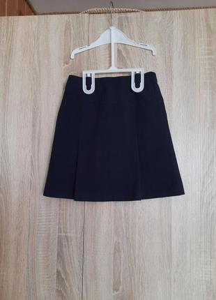 Школьная юбка синяя спідниця для школи