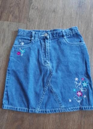 Юбка джинсовая школьная
