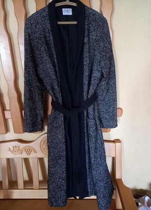 Пальто шерсть 👍👍👍 на запах пиджак плащ куртка обмен