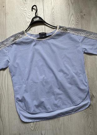 Натуральная блузка twin set в полоску