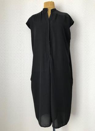 Оригинальное стильное черное платье / комбинезон, размер 50-52-54-56