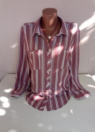 Женская рубашка 48 размера из вискозы