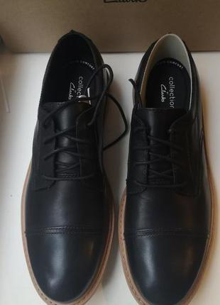 Трендовые кожаные туфли clarks  р 44  оригинал