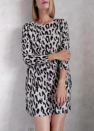 Кашемировое платье туникп