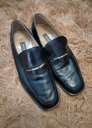 Натуральная кожа туфли лоферы