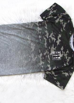 Милитари армейская камуфляжная футболка primark