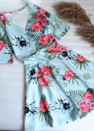 ✨неймовірна, сукня в актуальний принт  ,юбка сонце, плаття , платье ✨