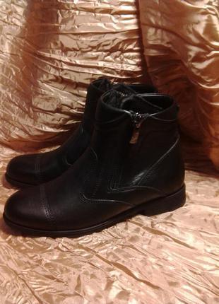 Кожаные стильные ботинки кемаль рафи4 фото