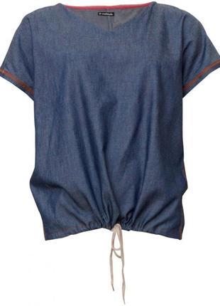 Топ блуза деним джинс ро. 56