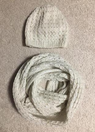 Шапка и шарф-хомут h&m