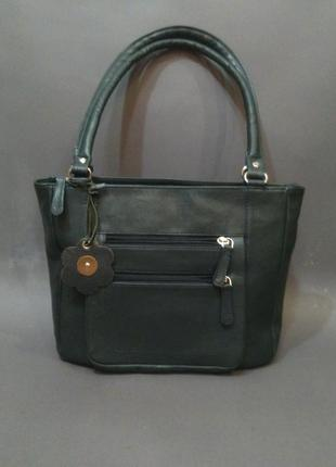 Кожаная, итальянская, дизайнерская сумка sienna de luca italy натуральная кожа
