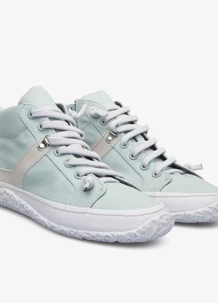 Новые кроссовки camper кеды ботинки хлопок+кожа мята
