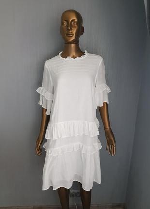 Платье белое летнее хлопок сукня літня біла бавовна