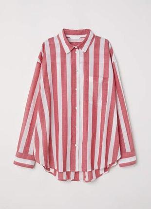 Трендовая оверсайз рубашка h&m