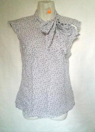 Летняя блузка в горошек хлопок