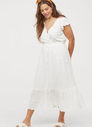 Новое хлопковое платье h&м. размер 42.