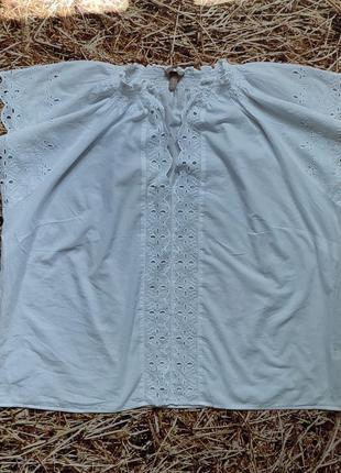 Новая легкая хлопковая блуза h&m, большой размер, батал. размер 542 фото
