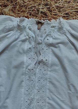 Новая легкая хлопковая блуза h&m, большой размер, батал. размер 543 фото