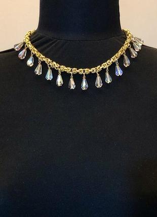 Винтажное колье, ожерелье, цепочка kirks folly. винтаж.