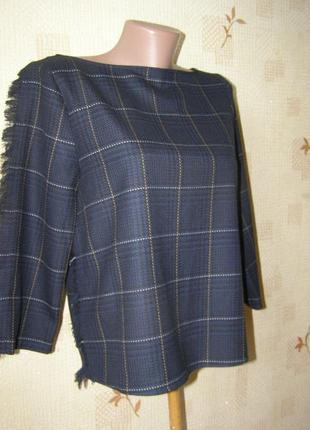 H&m блуза клетка 36-размер