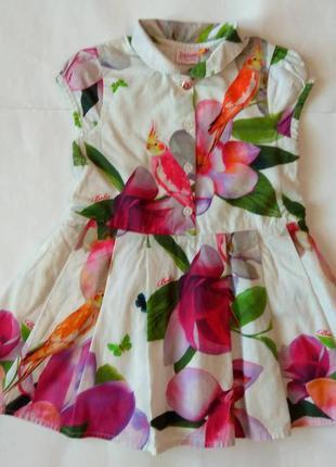 Красивое и нарядное платье от ted baker на 1,5 -2 года